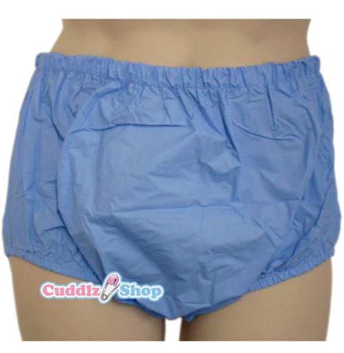 cuddlz pull ups blue plastic pants for adults