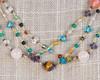 Gold Silk Thread Multi-Colored Necklace