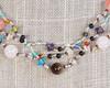 Silver Silk Thread Multi-Colored Necklace