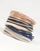 Leather & Crystal Wrap Bracelet - Brown