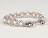 Pearl Daisy Chain Bracelet - Gray & White