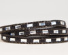 Crystal & Atom Wrap Bracelet - Black