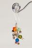 Bird's Nest Earrings - Silver Multi-Colored