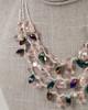 Multi-Strand Tear Drop Necklace - Lavender & Purple