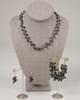 Pebble Stone Pearl Single Strand Necklace - Black & Gold