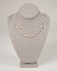 Pebble Stone Pearl Single Strand Necklace - White & Gold
