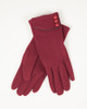Three Button Gloves - Red