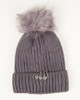 Gray 3 Ring Pom Pom Hat