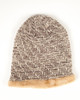 Faux Fur Lined Beanie Hat - Winter White