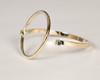 Gold Hoop Clasp Bracelet