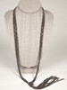 Tassel Knot Necklace-Charcoal