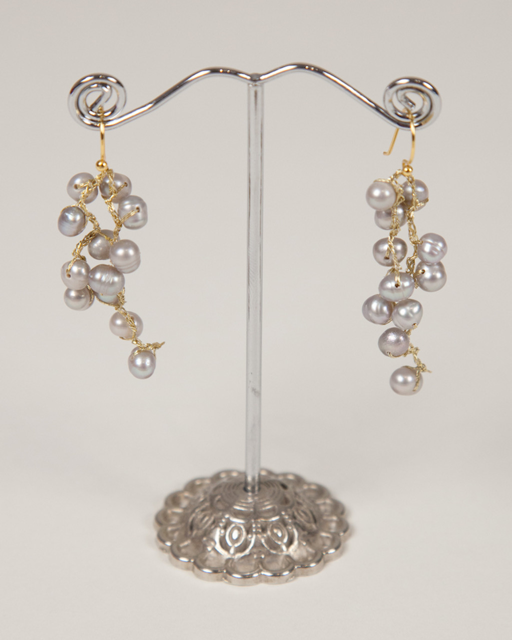 affordable faux long rhinestone golden drop mouth pearl earrings chain