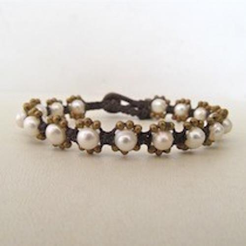 White Pearl Bracelet