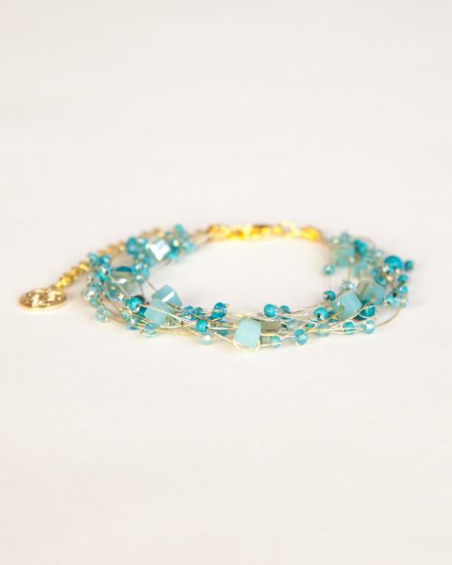 Silk Thread Bracelet - Turquoise