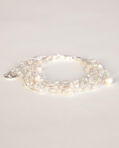 Silk Thread Bracelet - White