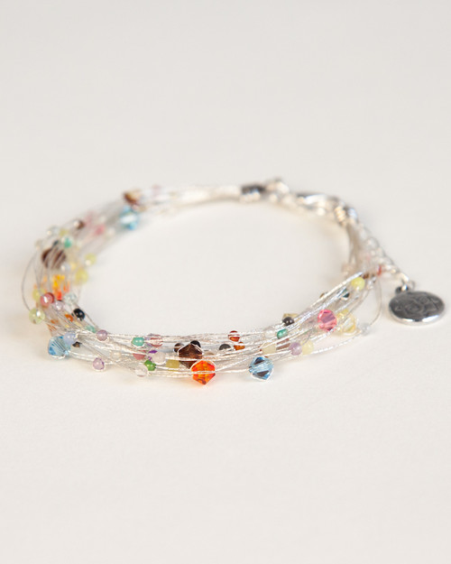 Bird's Nest Bracelet - Silver Multi-Colored