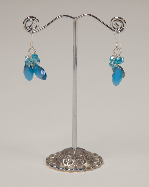 Tear Drop Earrings - Blue