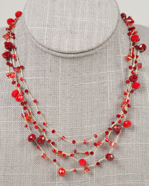 Red Disco Necklace