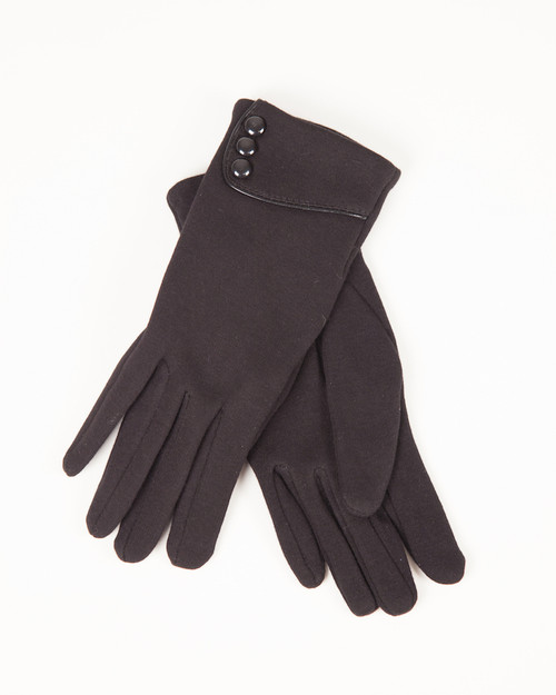 Three Button Gloves - Charcoal