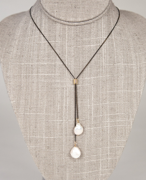Black & Gold Slider - Coin Pearls