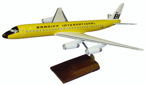 Braniff DC-8-62 Yellow