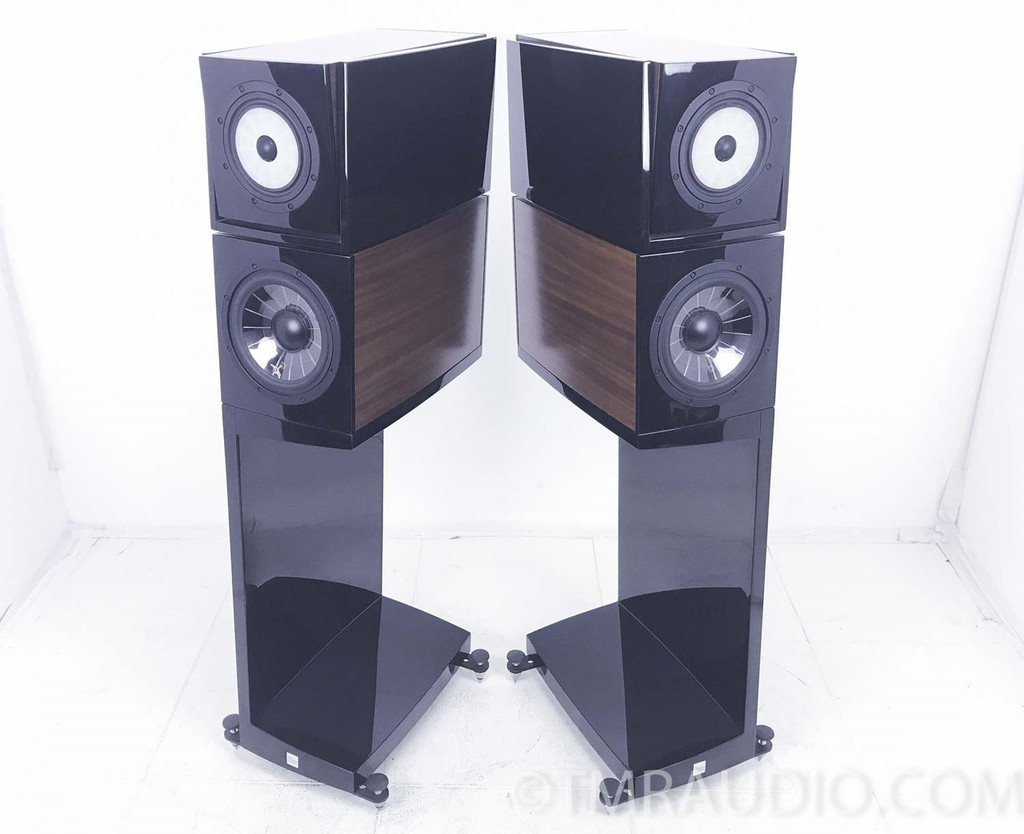 Vienna Acoustics Klimt The Kiss Speakers; Sapele Finish; Pair w/ Stands