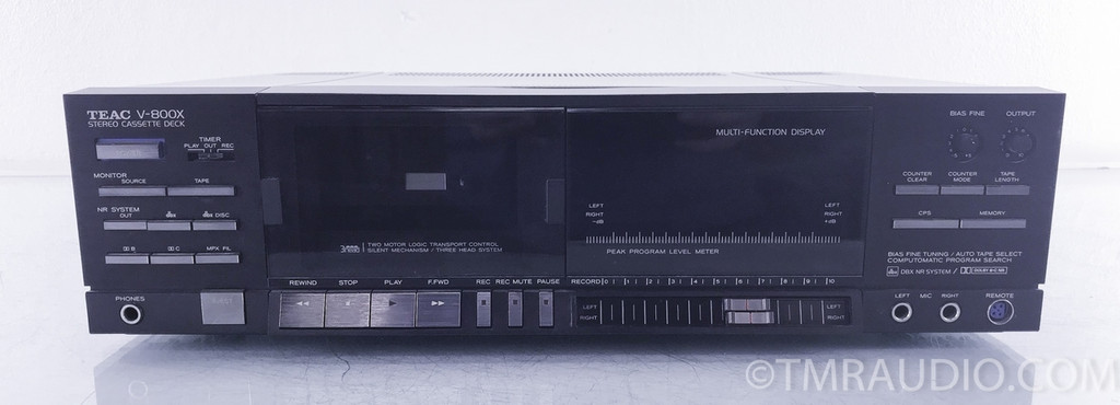 Teac V-800x Stereo Cassette Deck / Tape Recorder; AS-IS