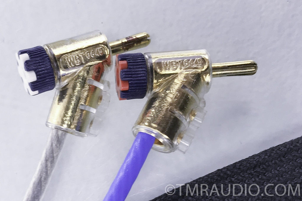 JPS Labs Superconductor 3 Speaker Cables; Blue/Clear; 4.5 ft. Pair