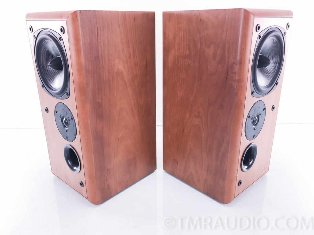 Castle Warwick 3 Bookshelf Speakers; Cherry (AS-IS / Tweeter Out)