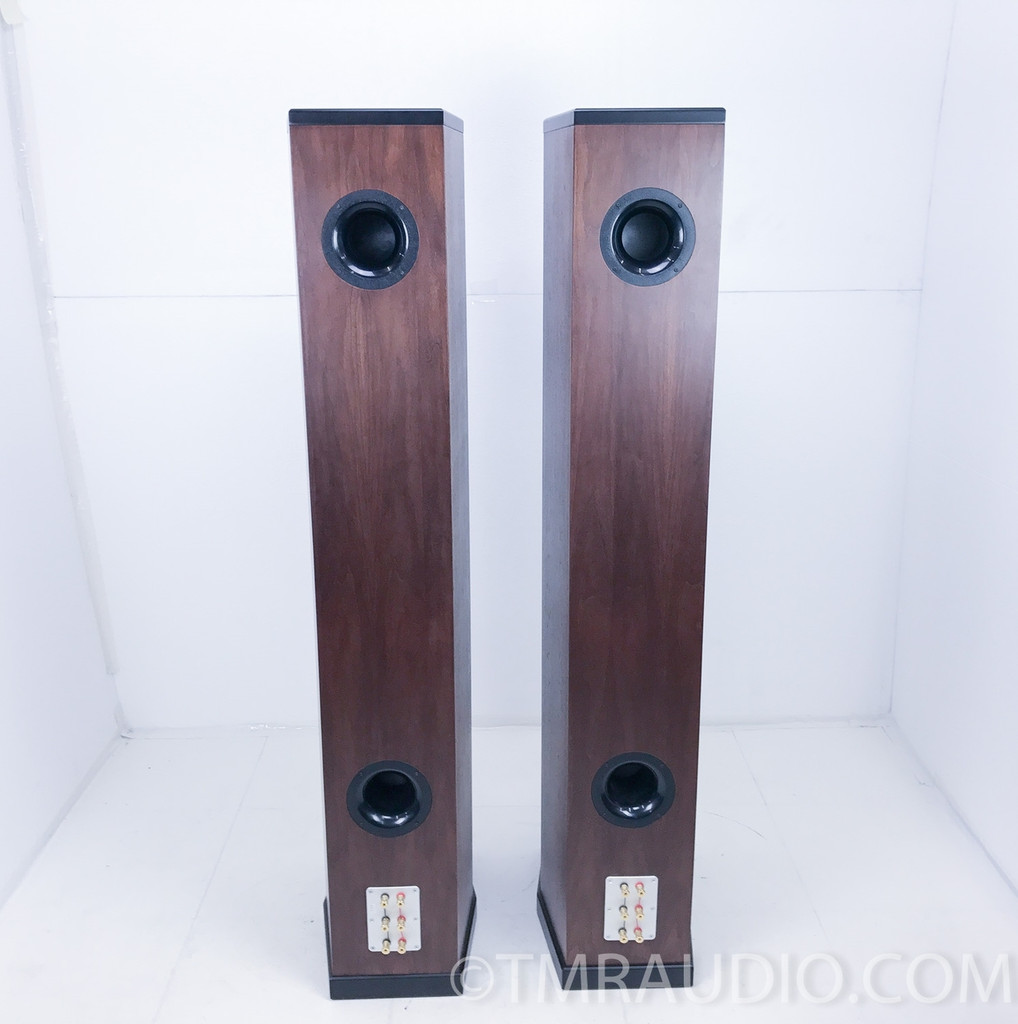 Tyler Acoustics Decade D1 Floorstanding Speakers w/ Stands; Dark Cherry