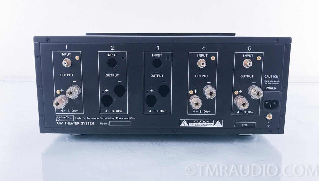 Jaton Operetta AV-5140 3-Channel Modular Power Amplifier; Black