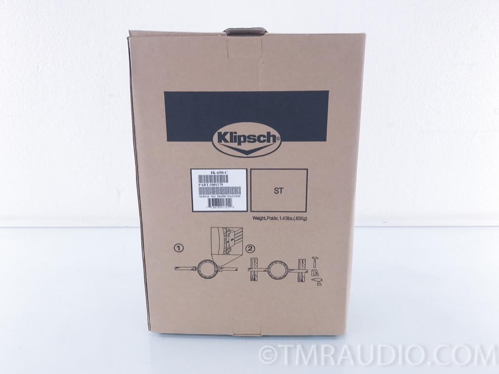 Klipsch IK-650-C In-Ceiling Speaker Installation Kit; Part No. 1001179