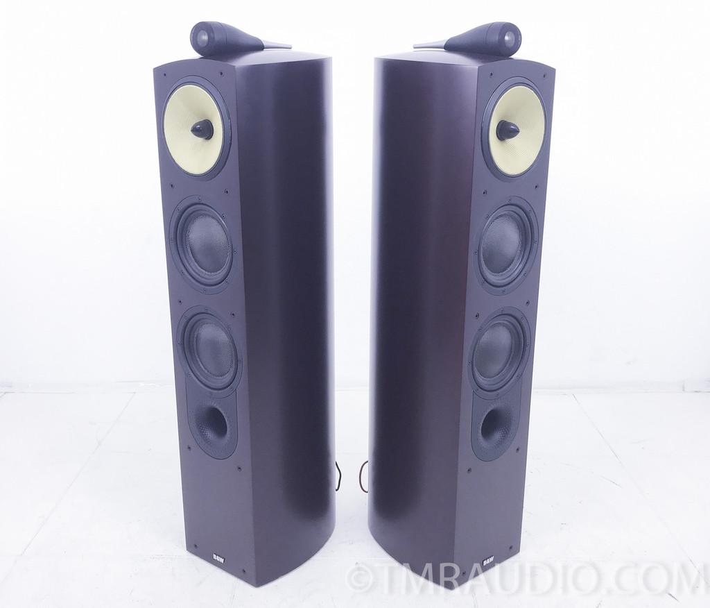 B&W Nautilus 804 Floorstanding Speakers; Red Cherry Pair 1