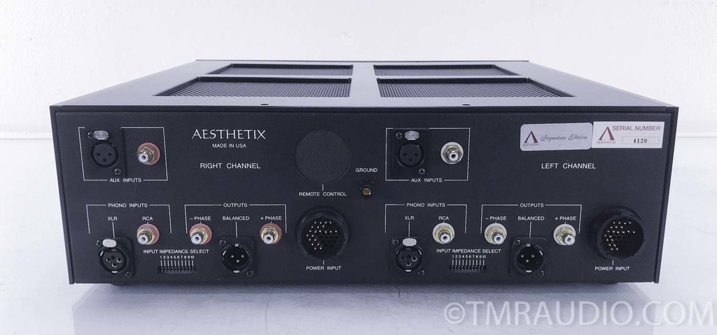 Aesthetix Io Eclipse Tube Phono Stage; Dual Power Supplies; Volume