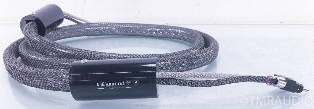 HiDiamond D8 Speaker Cables; 3m Pair; Locking Bananas