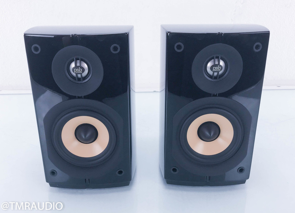 PSB Image Mini Bookshelf Speakers; Piano Black Pair