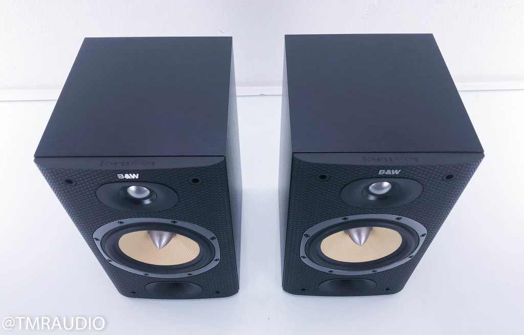 B&W DM601 S3 Bookshelf Speakers; Black Pair; Bowers & Wilkins
