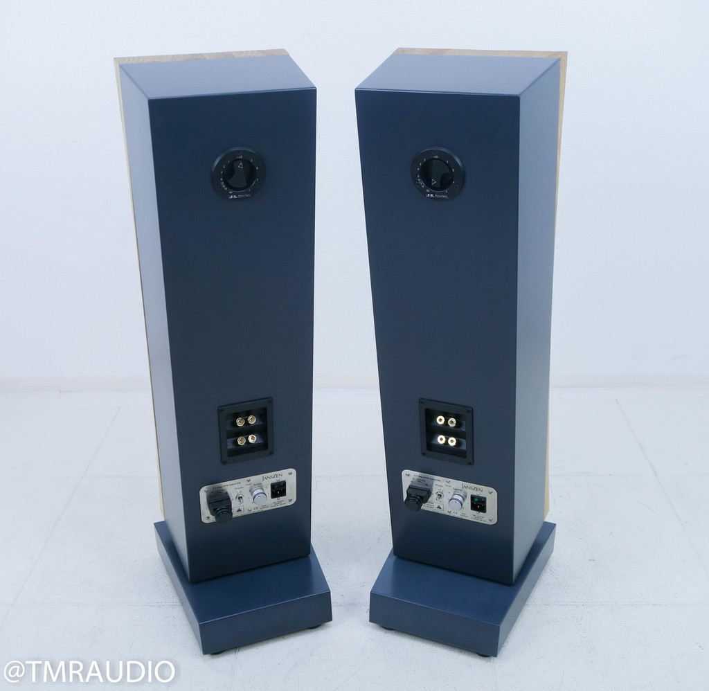 Janszen zA2.1 Electrostatic Hybrid Floorstanding ESL Speakers; Natural Honey Ash Pair