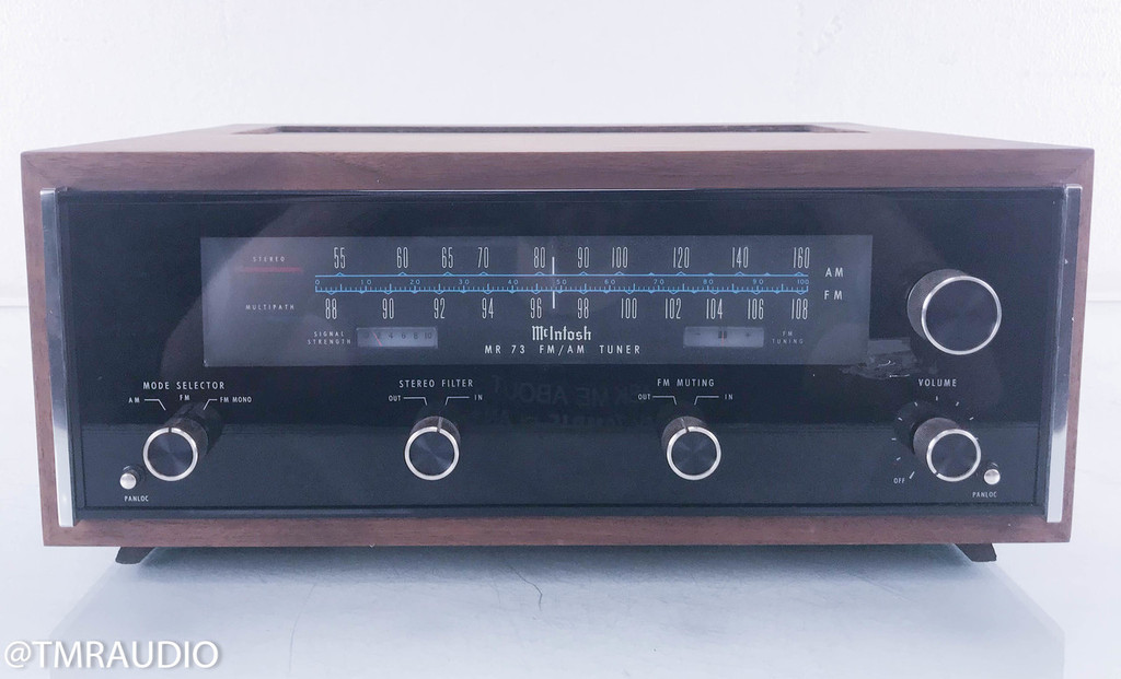 McIntosh MR 73 Vintage AM / FM Tuner; MR73 w/ Walnut Cabinet