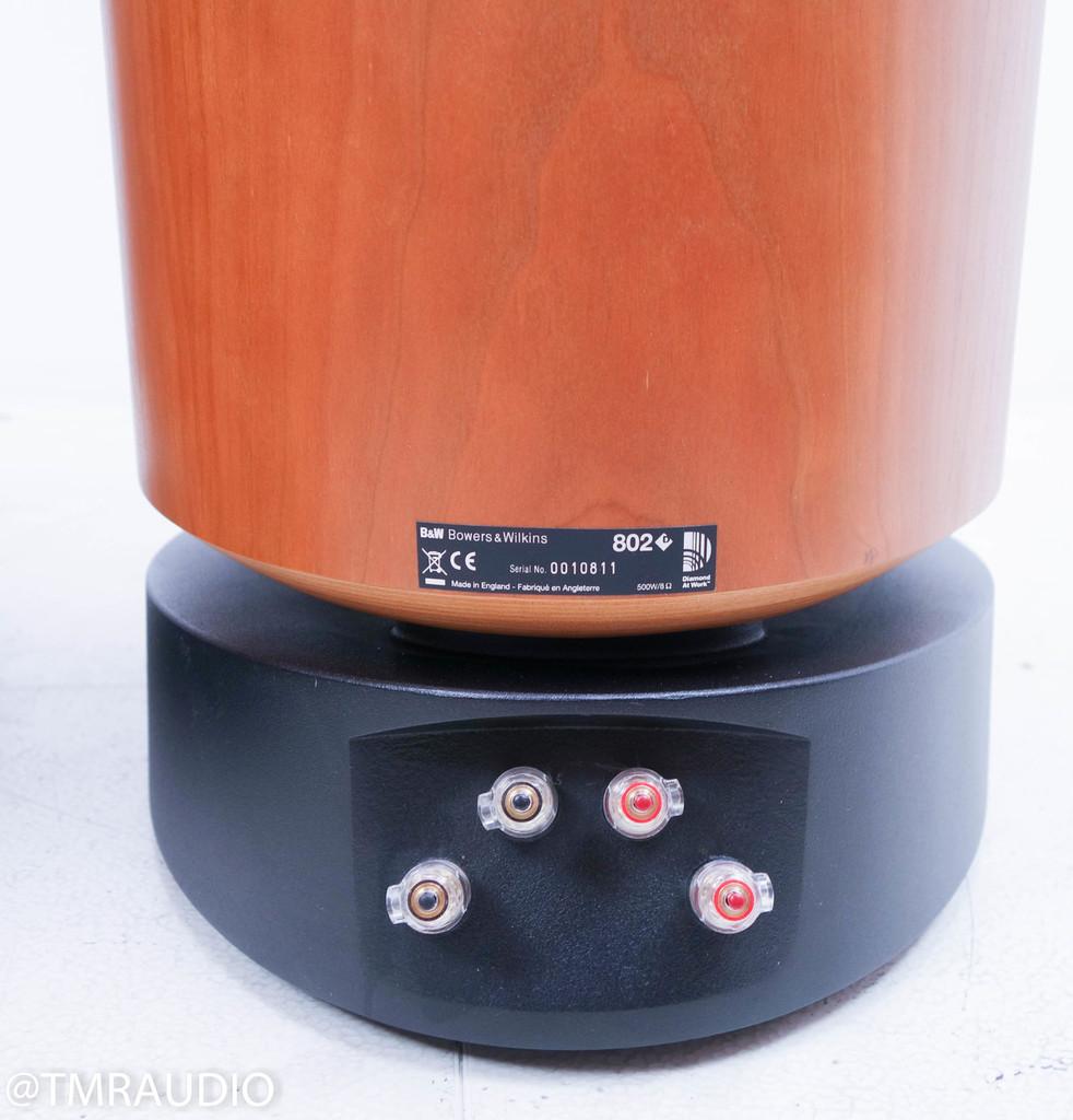 (holdrma 5260 2-22-18 RB) B&W 802D Floorstanding Speakers; Cherrywood Pair; Bowers & Wilkins