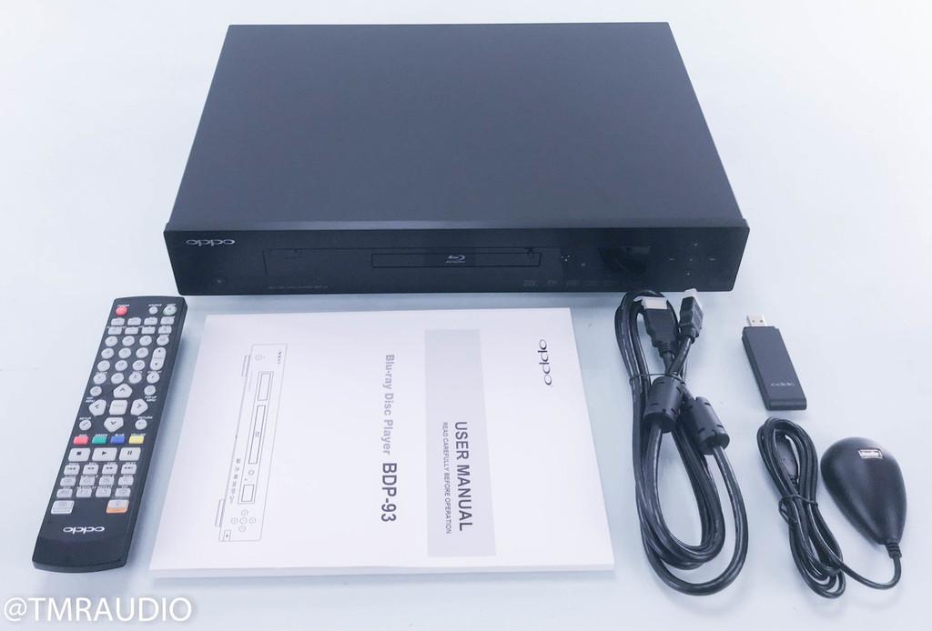 Oppo BDP-93 Universal 3D Blu-ray Player; SACD / CD / DVD / 3D Blu-ray