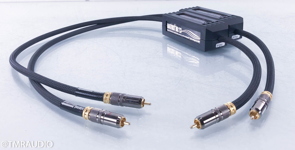 MIT Matrix HD23 RCA Cables; 1m Pair Interconnects w/ Adjustable Impedance