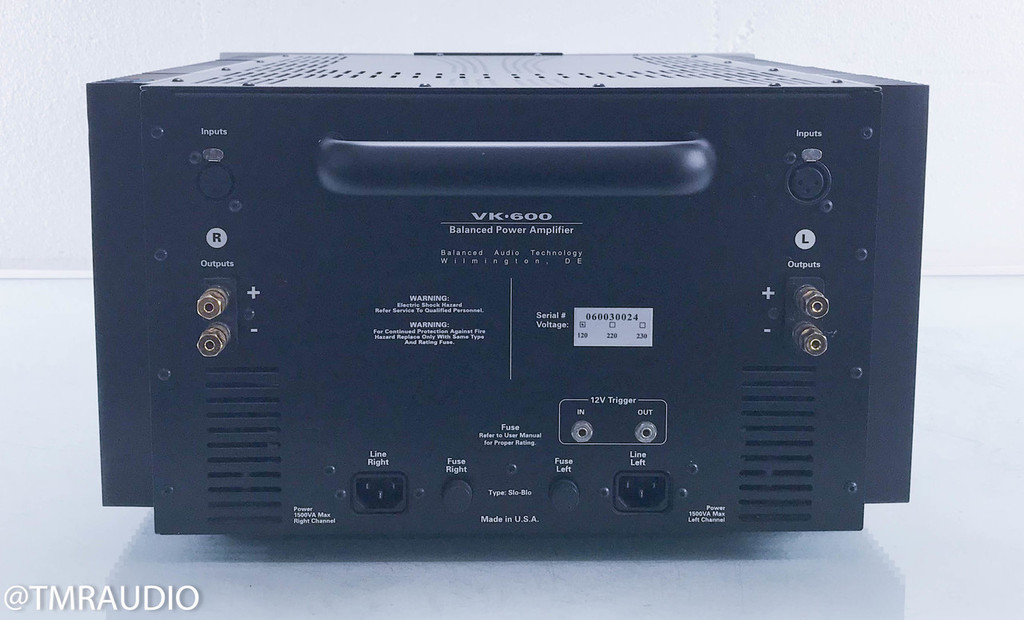 BAT VK-600SE Stereo Power Amplifier; VK600 SE