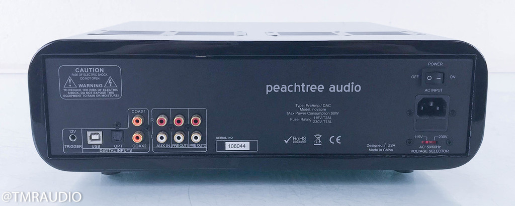 Peachtree Audio NovaPre Stereo Hybrid Tube Preamplifier; DAC; High Gloss Black