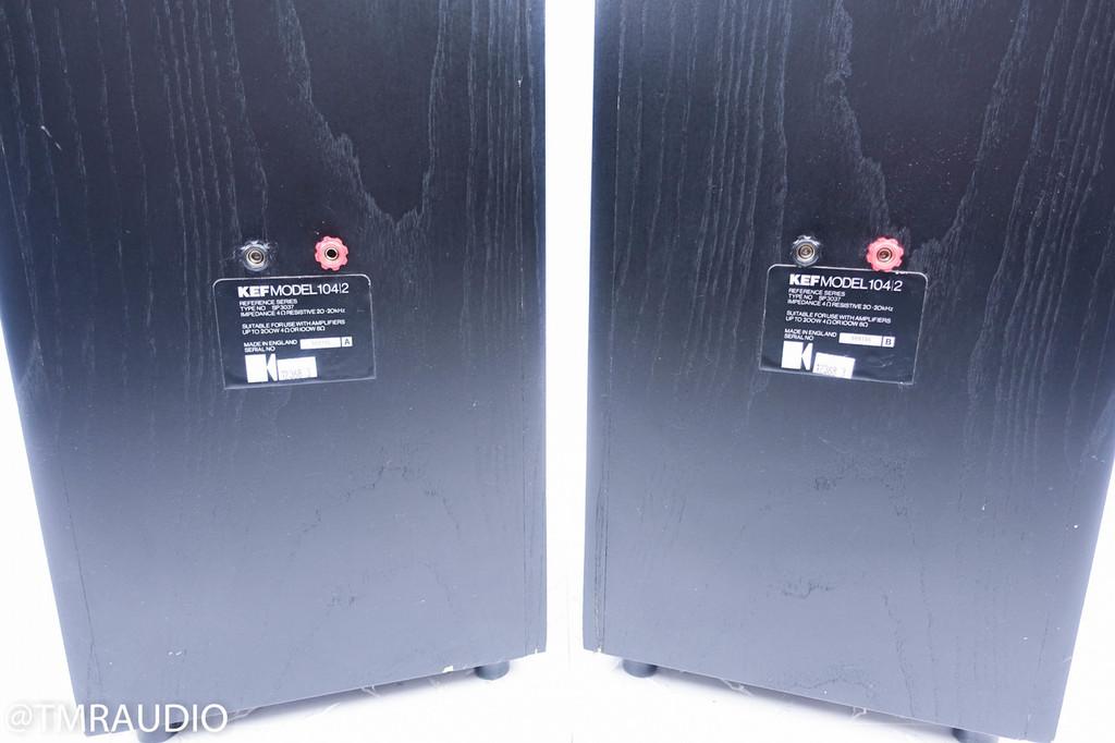 Kef  104/2; Floorstanding Speakers w/ Kube 200; Excellent Pair