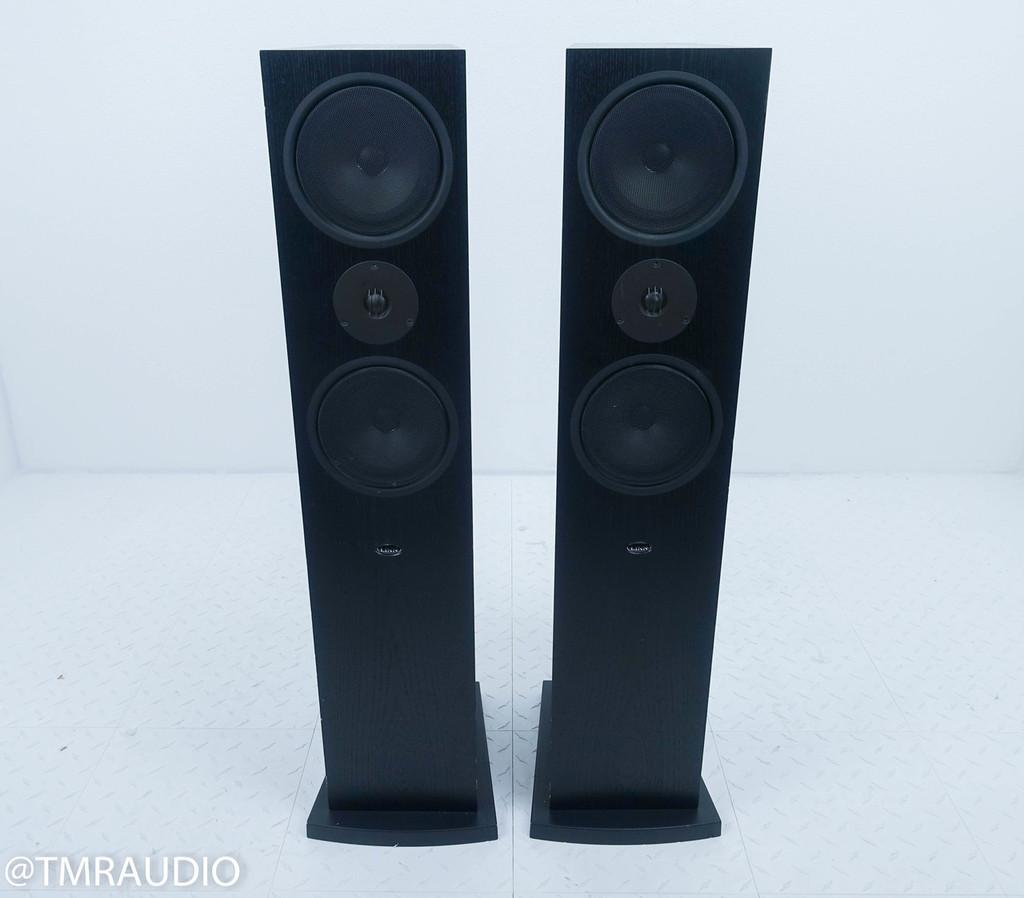 Linn Ninka Floorstanding Speakers; Black Pair; Single Wire Passive