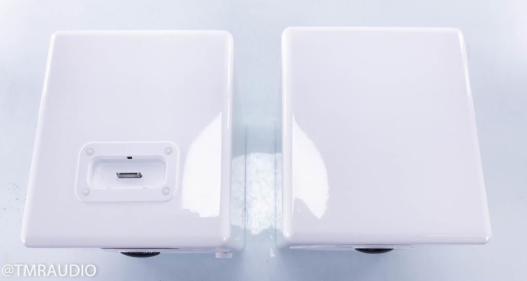 AktiMate Mini Active Bookshelf Speakers; Glossy White Pair (NOS)
