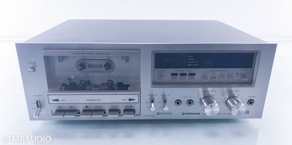 Pioneer CT-F750 Vintage Stereo Cassette Deck; Tape Recorder; Serviced