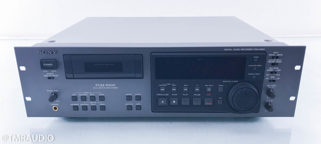 Sony PCM-R500 DAT Cassette Deck; PCMR500 Digital Tape Recorder