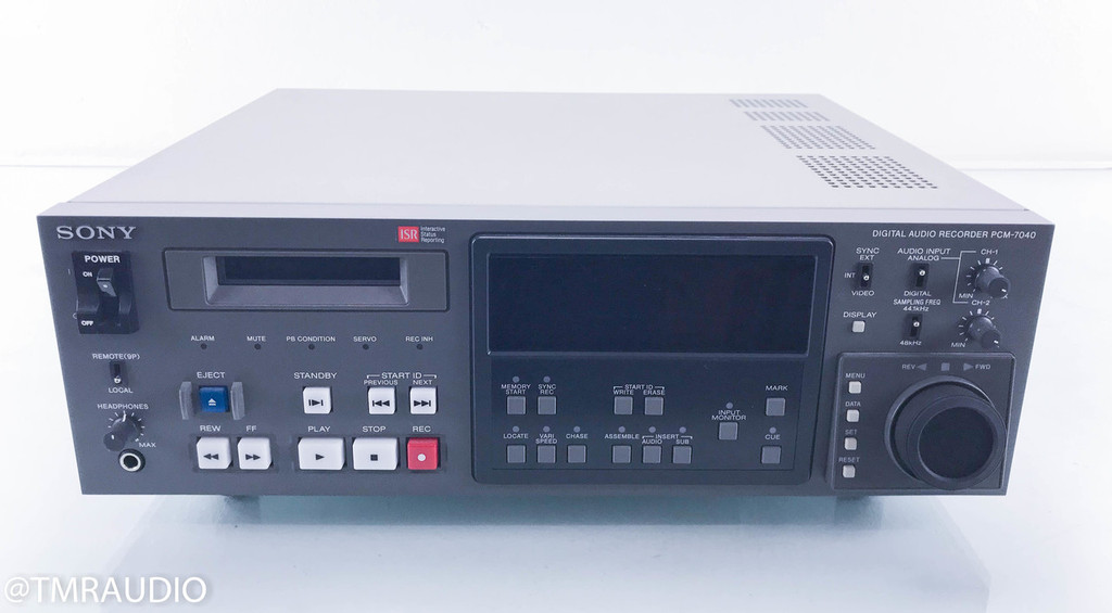 Sony PCM-7040 Digital Audio Recorder; DAT Player